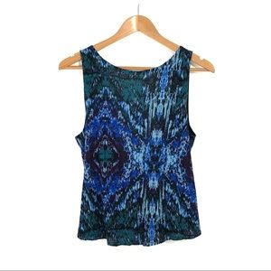 Silence + Noise Size Small Blue Strappy Back Top